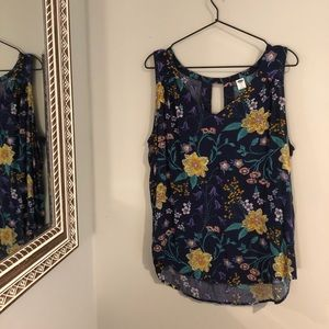 Old Navy | Blue, Floral Tank Top